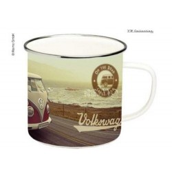 VW Coll. Emaill-Tasse